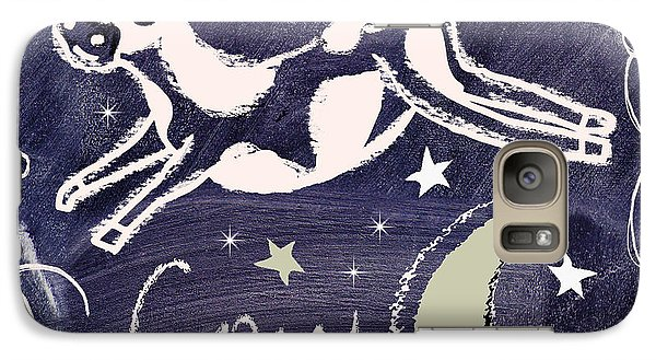 Cow Jumped Over The Moon Chalkboard Art Galaxy Case by Mindy Sommers