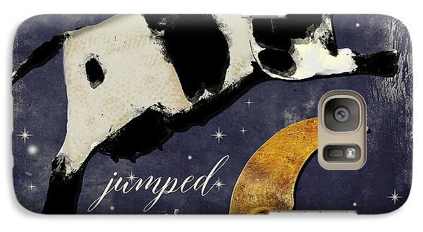 Cow Galaxy S7 Case - Cow Jumped Over The Moon by Mindy Sommers