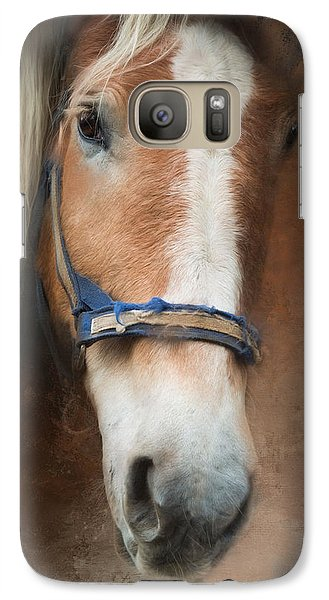 Galaxy Case featuring the photograph Cow Pony by Robin-Lee Vieira