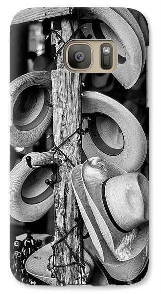 Galaxy Case featuring the photograph Cowboy Hats At Snail Creek Hat Company by David Morefield