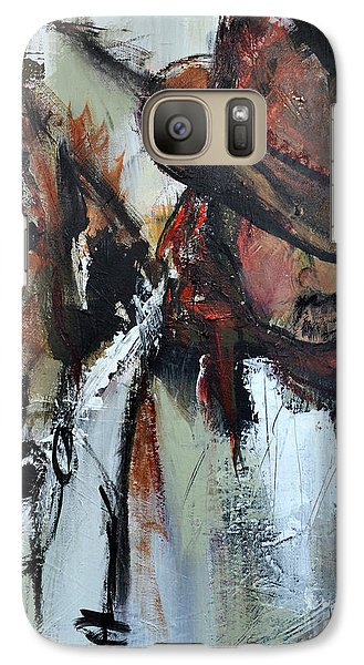 Galaxy Case featuring the painting Cowboy II by Cher Devereaux