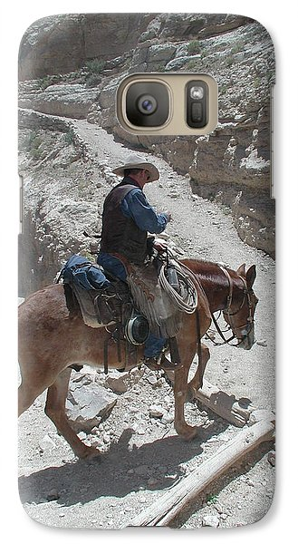 Galaxy Case featuring the photograph Cowboys In The Canyon by Nancy Taylor