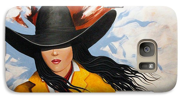 Galaxy Case featuring the painting Cowgirl Colors #3 by Lance Headlee