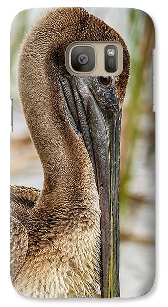 Galaxy Case featuring the photograph Coy Pelican by Jean Noren