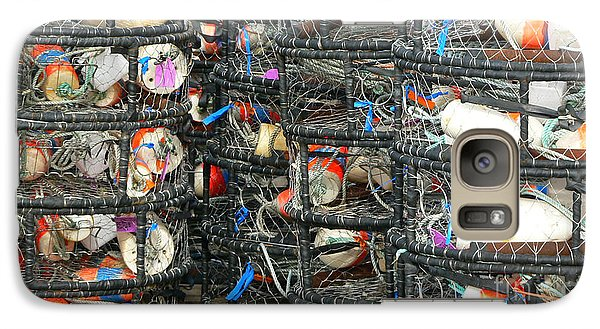 Galaxy Case featuring the photograph Crab Traps by Larry Keahey