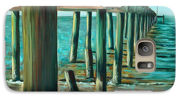 Galaxy Case featuring the painting Crabbing At Low Tide by Suzanne McKee