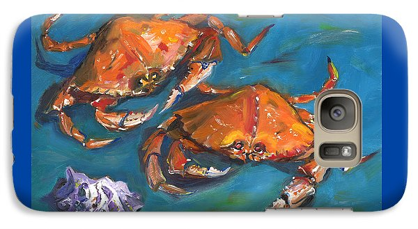 Galaxy Case featuring the painting Crabs by Susan Thomas