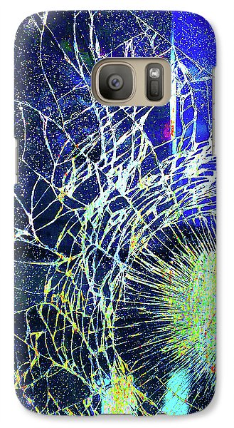 Galaxy Case featuring the mixed media Crack by Tony Rubino