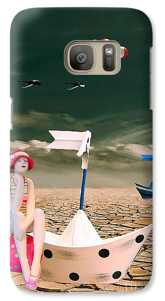 Galaxy Case featuring the photograph Cracked II - The Bathing Beauty by Chris Armytage