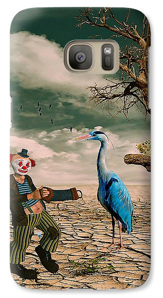 Galaxy Case featuring the photograph Cracked IIi - The Clown by Chris Armytage