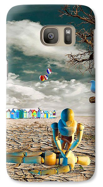 Galaxy Case featuring the photograph Cracked Vi - The Dummies Revival by Chris Armytage