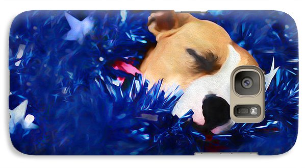 Galaxy Case featuring the photograph Cradled By A Blanket Of Stars And Stripes by Shelley Neff