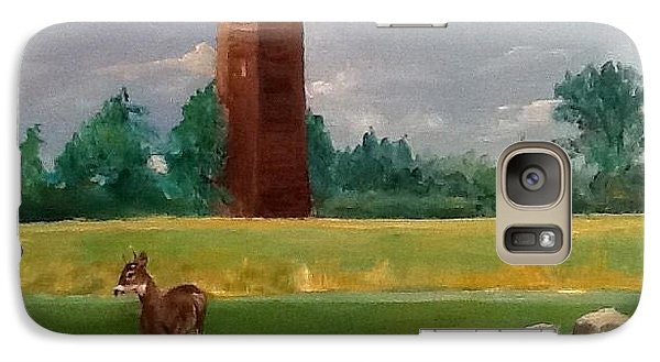 Galaxy Case featuring the painting Cragburn by Ellen Canfield