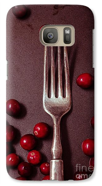 Cranberries And Fork Galaxy S7 Case by Ana V Ramirez