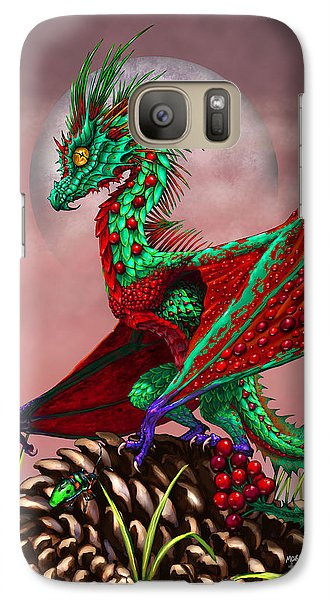 Galaxy Case featuring the digital art Cranberry Dragon by Stanley Morrison