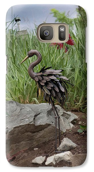 Galaxy Case featuring the photograph Crane by Cherie Duran
