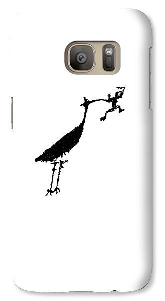 Galaxy Case featuring the photograph Crane Petroglyph by Melany Sarafis