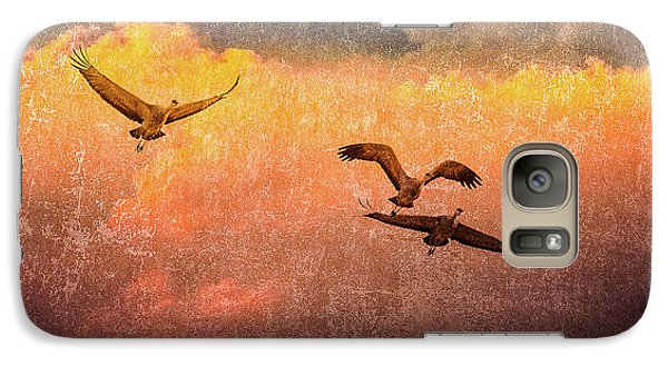 Cranes Lifting Into The Sky Galaxy S7 Case