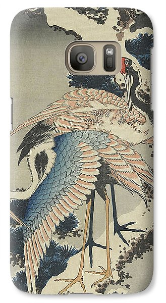 Cranes On Pine Galaxy S7 Case by Hokusai