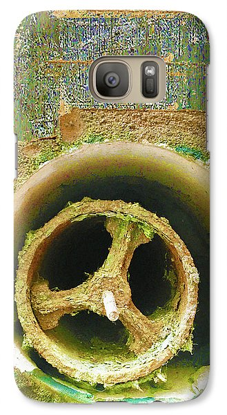 Galaxy Case featuring the mixed media Crank by Tony Rubino