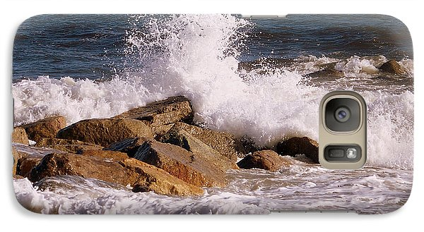 Galaxy Case featuring the photograph Crashing Surf On Plum Island by Eunice Miller