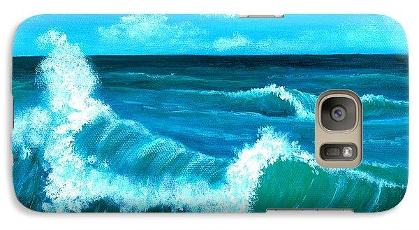 Galaxy Case featuring the painting Crashing Wave by Anastasiya Malakhova