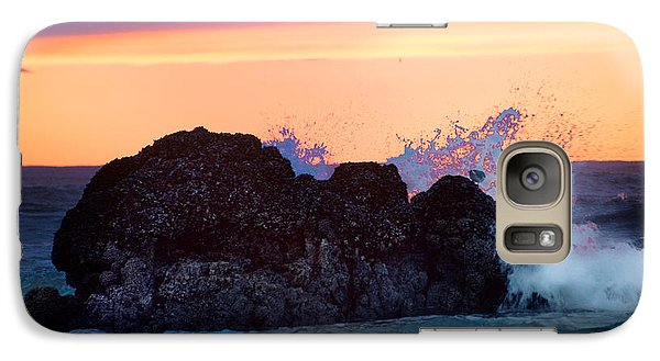 Galaxy Case featuring the photograph Crashing Wave by Jerry Cahill