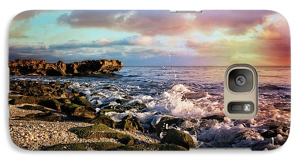 Galaxy Case featuring the photograph Crashing Waves At Low Tide by Debra and Dave Vanderlaan