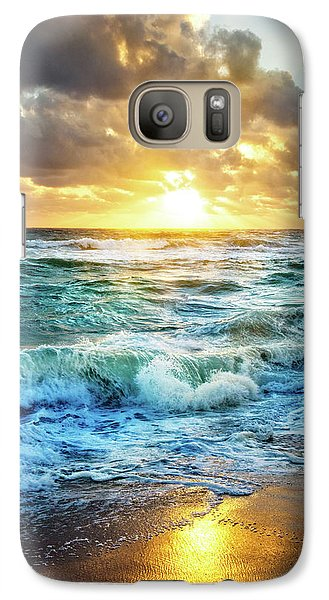 Galaxy Case featuring the photograph Crashing Waves Into Shore by Debra and Dave Vanderlaan