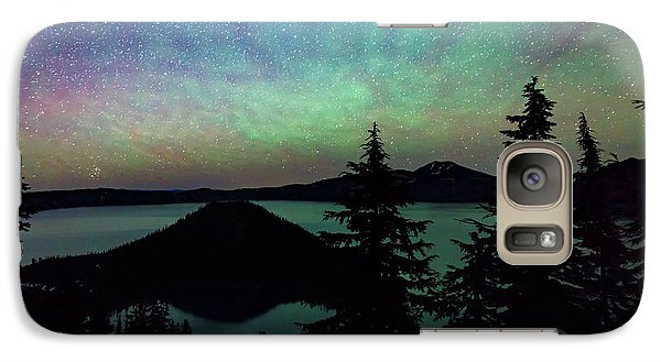 Galaxy Case featuring the photograph Crater Lake Airglow by Cat Connor