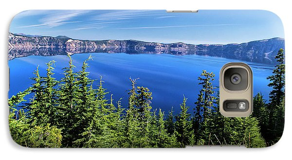 Galaxy Case featuring the photograph Crater Lake Rim Reflections by Frank Wilson