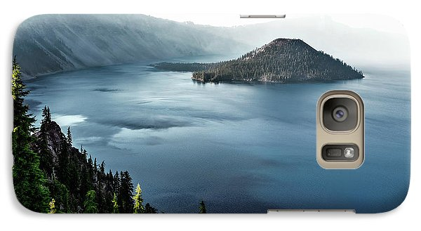 Galaxy Case featuring the photograph Crater Lake Under A Siege by Eduard Moldoveanu