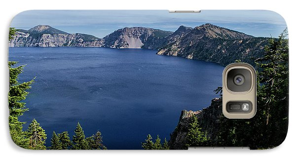 Galaxy Case featuring the photograph Crater Lake View by Frank Wilson