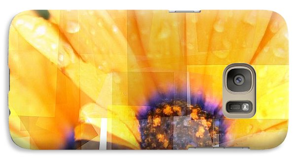 Galaxy Case featuring the photograph Crazy Flower Petals by Amanda Eberly-Kudamik