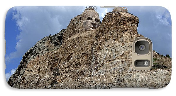 Galaxy Case featuring the photograph Crazy Horse by Jerry Cahill