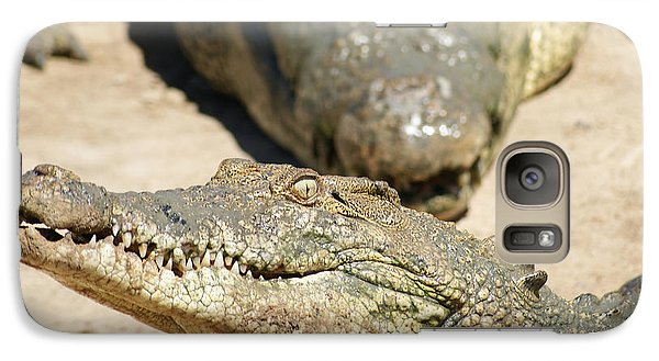 Galaxy Case featuring the photograph Crazy Saltwater Crocodile by Gary Crockett