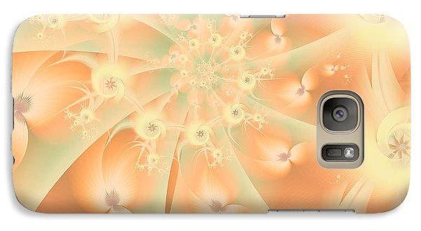 Galaxy Case featuring the digital art Creamsicle Mint by Michelle H