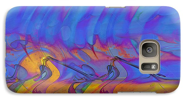 Galaxy Case featuring the digital art Creative Motion by Linda Sannuti