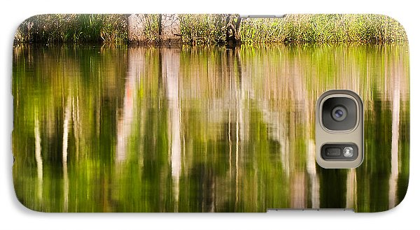 Galaxy Case featuring the photograph Creekside Reflections by Bob Decker