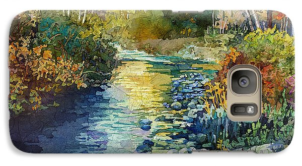 Galaxy Case featuring the painting Creekside Tranquility by Hailey E Herrera