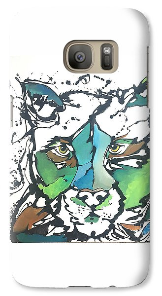 Galaxy Case featuring the painting Creep by Nicole Gaitan