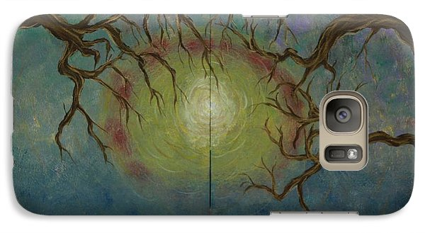 Galaxy Case featuring the painting Creeping by Jacqueline Athmann