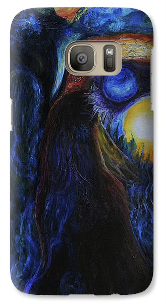 Galaxy Case featuring the painting Creeping Plague by Christophe Ennis