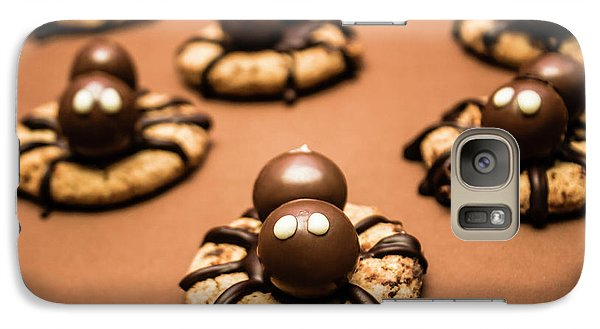 Spider Galaxy S7 Case - Creepy Crawly Spider Bites. Halloween Food by Jorgo Photography - Wall Art Gallery
