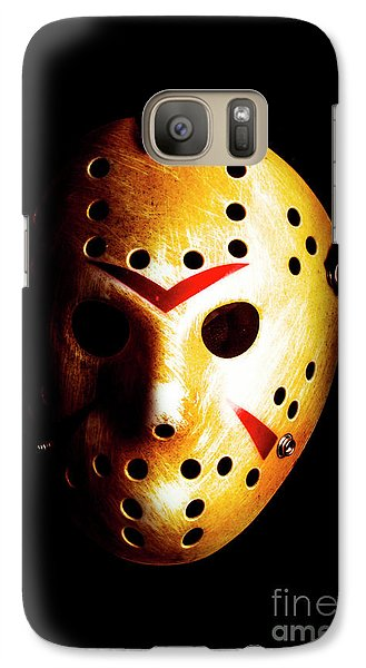 Hockey Galaxy S7 Case - Creepy Keeper by Jorgo Photography - Wall Art Gallery