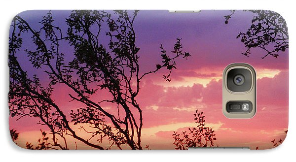 Galaxy Case featuring the photograph Creosote Sky by Suzette Kallen