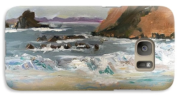 Galaxy Case featuring the painting Crescent Beach At Laguna  by MaryAnne Ardito
