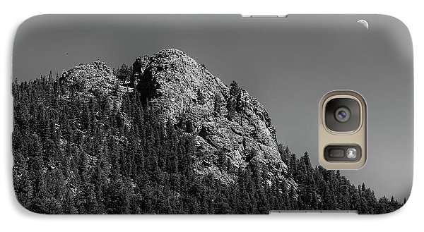 Galaxy Case featuring the photograph Crescent Moon And Buffalo Rock by James BO Insogna