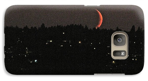 Galaxy Case featuring the photograph Crescent Moonset by Sean Griffin