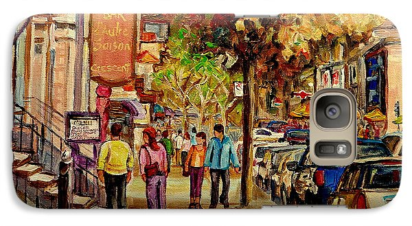 Galaxy Case featuring the painting Crescent Street Montreal by Carole Spandau